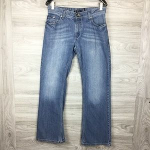 INC Blue Washed Boot Cut Jeans